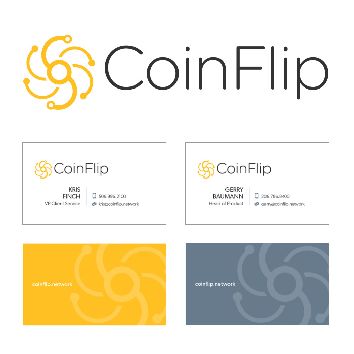 Brand identity, collateral design and content creation for CoinFlip
