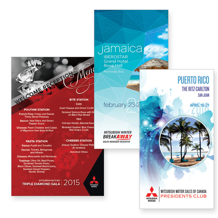 Design of several Mitsubishi Conferences – speaker support and event collateral